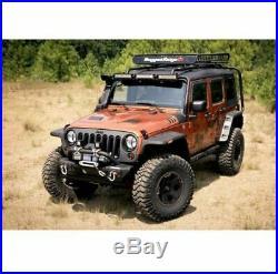 Omix Hurricane Flat Fender Flare Kit for 07-18 Jeep Wrangler JK # 11640.10