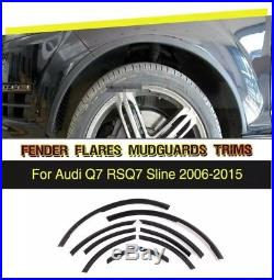 PU Wheel Arch Trim Kit Fender Flares Cover Fit for Audi Q7 RSQ7 S Line 2006-2015