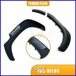 Quality FENDER FLARE Kit Black Grey 6 For Hilux Dual Cab 2015-2021 WHEEL ARCH