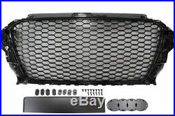 RS3 Grille Shiny Gloss Piano Black Edition Fits all A3 8V Models 2012