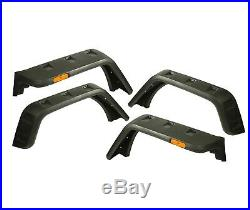 Rugged Ridge 11640.09 Hurricane Fender Flare Kit EU Textured Fit 07-18 Jeep JK