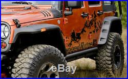 Rugged Ridge 11640.10 Flat Fender Flare 4 Piece Kit for Wranglers