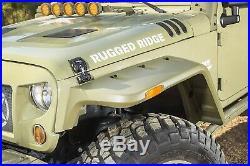 Rugged Ridge 11640.25 Hurricane Fender Flare Kit Fits 2007-2018 Jeep Wrangler