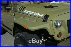 Rugged Ridge 11640.25 Hurricane Fender Flare Kit Fits Wrangler Wrangler (JK)