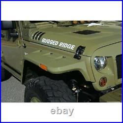 Rugged Ridge 11640.26 Hurricane Fender Flare Kit EU Smooth for 2007-18 Jeep (JK)