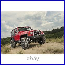 Rugged Ridge 11640.30 Text Black Hurricane Fender Flare Kit for 97-06 Jeep (TJ)