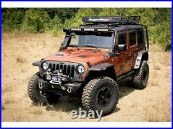 Rugged Ridge Hurricane Flat Fender Flare Kit for 07-18 Jeep Wrangler