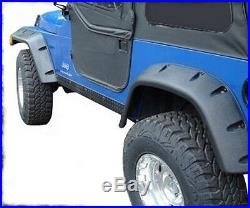 Smittybilt 6 Wide Fender Flare Kit 97-06 Jeep Wrangler TJ LJ 17190 Black