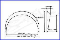 Subaru BRZ Wide Body Kit, Fender Flares 50mm 2.0 Inch Wheel Arches ABS Plastic