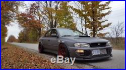 Subaru Impreza 4 doors fender flares set, wide body kit, ABS smooth plastic. GC8