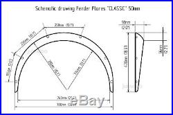 Subaru Legacy Fender flares JDM wide body kit wheel arch 50mm 2.0 4pcs