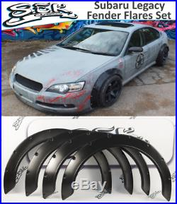 Subaru Legacy IV 2005-2007 Wide Body Kit, ABS Plastic Fender Flares, Arches Set