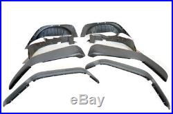 Tf4071 Rugged Ridge 8 Piece Flat Fender Flare Kit Arches For Jeep Wrangler Jk