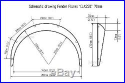 Toyota Mark II Fender flares JDM wide body kit wheel arch 2.75 70mm 4pcs set