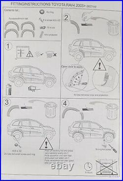 Toyota Rav4, 4 dors. OEM 4 Pack Front & Rear Side Fender Flare Kit (2001-06) MB