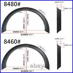 Universal 4pcs 60mm+80mm Fender Flares Body Kit Over Wide Body Wheel Arches