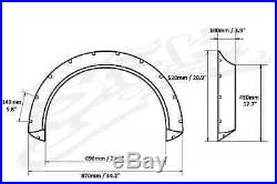 Universal Fender Flares Wide Body Kit Wheel Arches 100 mm 3.9 Inch ABS Plastic