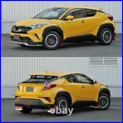 Unpainted Front & Back Fender Flares Protector Kit For Toyota CHR C-HR 2016-2019