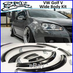 VW Golf 5 Fender Flares Set Golf MK5 Wide Body Kit 30mm 8 pcs set. GTI / R32