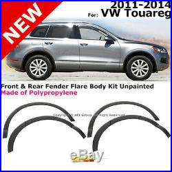 VW Touareg 11-14 Front Rear Fender Flare Aero Diffuser Body Kit Unpainted Gray