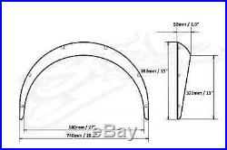 Volkswagen Beetle Fender Flares Set, Wide Body Kit, ABS Plastic 2 Inch wide