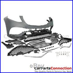 W166 Body Kit Front Bumper Fender Flare Rear Diffuser Muffler Tip GLE63 Style