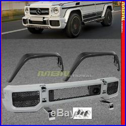 W463 2002-2017 G Class Front Bumper w Front Fender Flares Kit Facelift G63 G65
