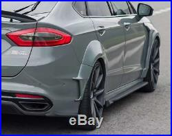 Wheel Arch Cover Trim For Ford Fusion 2014-2018 Primer Fender Flare Kit 10X