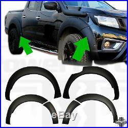 Wheel arch set wide for Nissan Navara NP300 D23 matt black fender flares wing