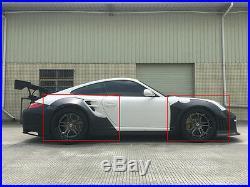 Wide Fender Flares 8PCS Body Kit Wheel Arch Fit for Porsche 911 997 10-12 LRB