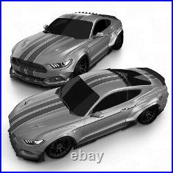 Widebody fender flares set LION'S KIT V1 for Ford Mustang VI 6 S550 15-17