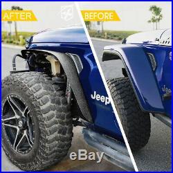 Xprite 4 Pack Front & Rear Side Fender Flare Kit for 2018-2020 Jeep Wrangler JL
