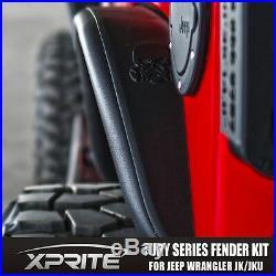 Xprite Monster Front & Rear Aluminum Fender Kits for Jeep Wrangler 2007-2017 JK